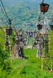 Cableway för frakter Arkivfoton