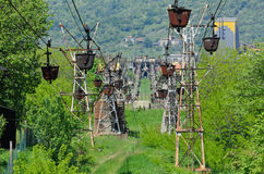 Cableway for freight Stock Images