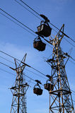 Cableway for freight Stock Image