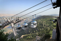 Cableway in the Golan Heights stock images