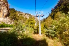Cableway grotto Jeita Στοκ φωτογραφίες με δικαίωμα ελεύθερης χρήσης
