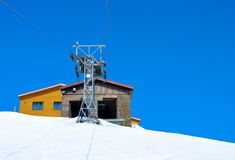 Cableway on the hill Royalty Free Stock Photo