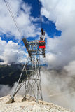 Cableway in Italian Dolomites Royalty Free Stock Photo