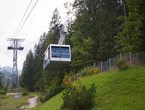 Cableway in Kasprowy Wierch peak in Tatra mountains Royalty Free Stock Photography
