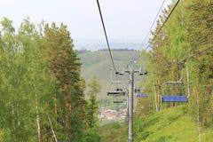 Cableway. Krasnoyarsk. beaver log Stock Images