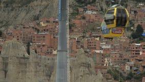 Cableway in La Paz, Bolivia (1) stock footage