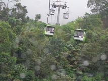 Cableway leading to Genting Royalty Free Stock Photography