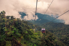 Cableway leading to Genting,. KUALA LUMPUR, MALAYSIA - MARCH 03: Cableway leading to Genting, March 03 , 2013 in Kuala Lumpur, Malaysia. Genting is an important Royalty Free Stock Photography