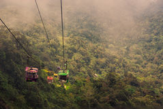 Cableway leading to Genting,. KUALA LUMPUR, MALAYSIA - MARCH 03: Cableway leading to Genting, March 03 , 2013 in Kuala Lumpur, Malaysia. Genting is an important Stock Photos