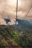 Cableway leading to Genting in Malaysia Royalty Free Stock Photos