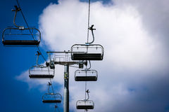 Cableway lift transportation in the alps mountains Stock Image