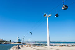 Cableway in Lisbon Stock Image