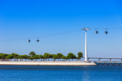 Cableway in Lisbon Royalty Free Stock Photography