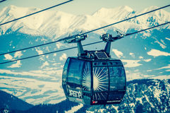 Cableway at Low Tatras, Slovakia Stock Images