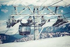 Cableway at Low Tatras, Slovakia Royalty Free Stock Photos