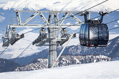 Cableway at Low Tatras, Slovakia Royalty Free Stock Image