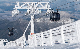 Cableway in Low Tatras, Slovakia Royalty Free Stock Photo