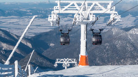 Cableway in Low Tatras, Slovakia Stock Images