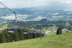 Cableway in Malino Brdo, Slovakia. Cableway in resort Malino Brdo, Slovakia Stock Photos