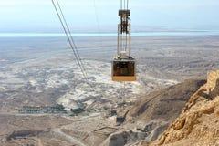 Cableway at Masada. Stock Images