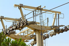 Cableway Mechanism Royalty Free Stock Photos