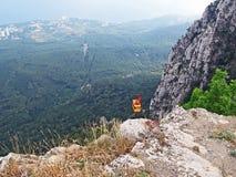 Cableway Mishor - Ai-Petri. Beautiful scenery - Cableway Mishor - Ai-Petri in Yalta, Crimea, Ukraine stock images