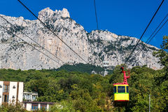 Cableway Mishor - Ai-Petri in Yalta Royalty Free Stock Image