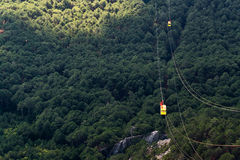 Cableway Mishor Petri w Crimea Fotografia Stock