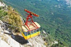 Cableway Miskhor - Ai-Petri in Crimea. Cableway Miskhor - Ai-Petri - passenger ropeway in Crimea Stock Photos
