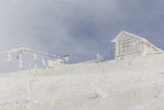 Cableway on Mount Hermon Royalty Free Stock Photo