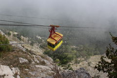 Cableway in mountain royalty free stock images