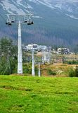 Cableway and mountain Royalty Free Stock Image