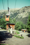 Cableway in the mountains, Argientere ,France royalty free stock image