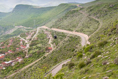 Cableway in the mountains of Armenia Royalty Free Stock Image