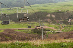 Cableway in the mountains of Armenia Stock Photo
