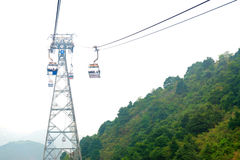 Cableway in the mountains. Hong Kong. China. Stock Photography