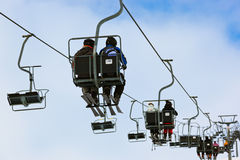 Cableway at mountains ski resort Solden Austria Stock Photos