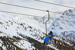 Cableway at mountains ski resort Solden Austria Stock Photo