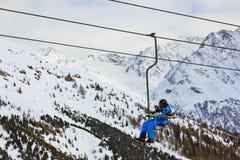 Cableway at mountains ski resort Solden Austria Stock Photo