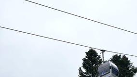 Cableway narciarstwa pracujący teren zbiory