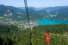 Cableway near Wolfgangsee Royalty Free Stock Images