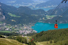 Cableway near Wolfgangsee Royalty Free Stock Photos