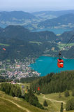 Cableway near Wolfgangsee Stock Image