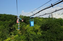 Cableway in Odessa Royalty Free Stock Images