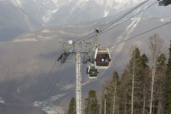 A cableway during 2014 Olympics Royalty Free Stock Photos