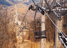 Cableway over highland Royalty Free Stock Image