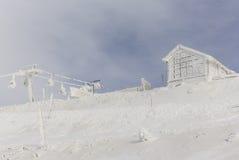 Cableway på Mount Hermon Royaltyfri Foto