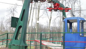 Cableway in the park stock video footage