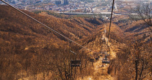 Cableway without people outdoor Royalty Free Stock Photography