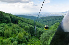 Cableway in Polish mountains Stock Photography